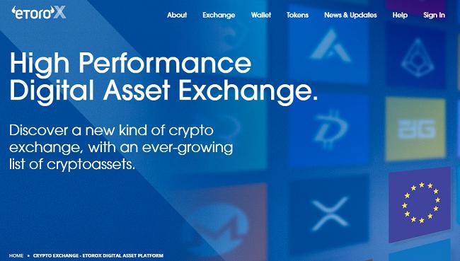 eToroX launches cryptocurrency exchange, announces 8