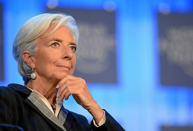 IMF head Christine Lagarde encourages central bank