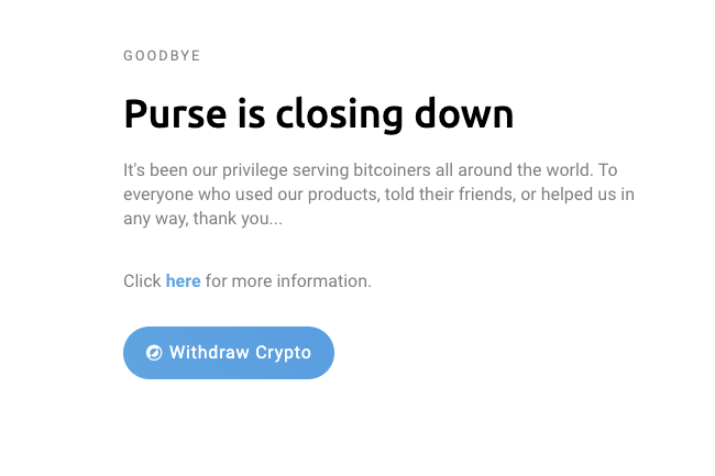 does cryptocurrent have a closing